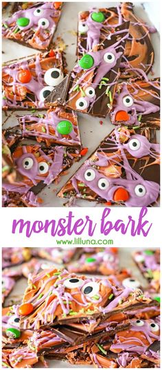 Homemade Monster Bark - a quick, festive and fun treat to make for Halloween!