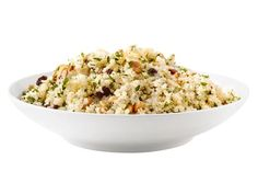 Get Ellie Krieger's Quinoa With Garlic, Pine Nuts and Raisins Recipe from Food Network