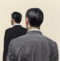 Peter Ravn, Das Volk, 2009, oil on canvas