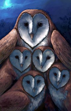 "This open edition photo print (a reproduction) was printed from the digital painting ""Barn Owl- Five of Hearts.""  IMPORTANT NOTE: The artwork has been slightly cropped in order to fit within the print dimensions.  This print has been hand signed by the artist (The watermark in the image is no..."
