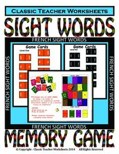 8 besten Matching Memory Games - Classic Teacher Worksheets Bilder ...