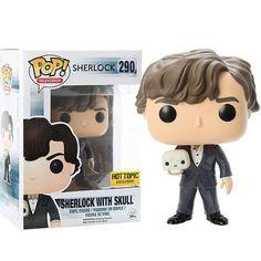 Sherlock TV Show Sherlock with Skull Pop! Television Funko Vinyl Figure New in Box NIP 290 New in Package