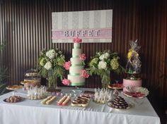 Sweet Catering Buffet Wedding Table