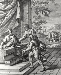 Phillip Medhurst presents Bowyer Bible print 3924 The parable of the talents Matthew 25:14-25 Caspar Luyken on Flickr. A print from the Bowyer Bible, a grangerised copy of Macklin's Bible in Bolton Museum and Archives, England.