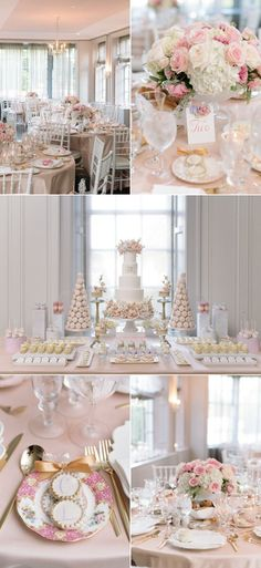 Hello gorgeous bridal shower! Pretty In Pink Romantic Garden-Inspired Fall Wedding