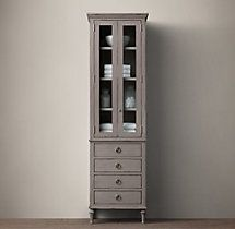 RHu0027s Maison Tall Bath Cabinet:Inspired By Late French Furnishings, Weu0027ve  Captured The Linearity And Rectangular Forms Associated With That  Post Rococo ...