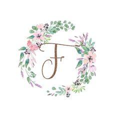 Free Glitter and Glam Monogram Printables Fancy Letters, Floral Letters, Framed Wallpaper, Wallpaper Backgrounds, Floral Logo, Floral Prints, Birthday Background Wallpaper, Alphabet Images, Girl Baby Shower Decorations
