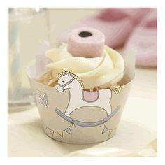 Les socles à cupcake cheval à bascule