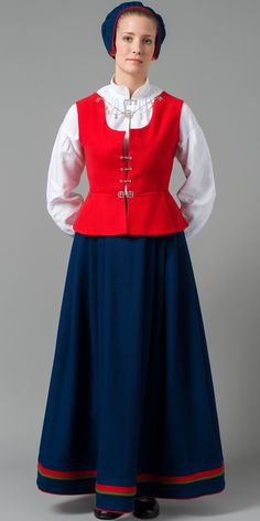 Norwegian folk dress from Finnmark region Mrs Claus Dress, Norwegian Clothing, Costumes Around The World, Folk Costume, Historical Costume, Scandinavian Style, Traditional Dresses, Norway, Cheer Skirts