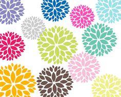 Compre 2 obtenga 2 gratis flores Clip Art por DennisGraphicDesign