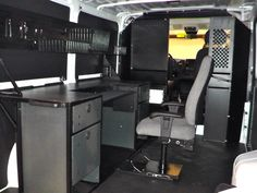 Mobile Office Desk or Workstation Mini Office, Car Office, Office Setup, Office Desk, Van Conversion Office, Mobile Command Center, Mobile Workshop, Van Storage, Van Dwelling