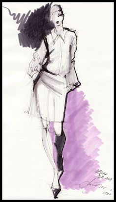 Fashion Illustration Speed Painting with Ink - Drawing On Demand Fashion Illustration Collage, Illustration Mode, Fashion Illustrations, Design Illustrations, Fashion Design Drawings, Fashion Sketches, Dress Sketches, Fashion Figure Drawing, Drawing Fashion