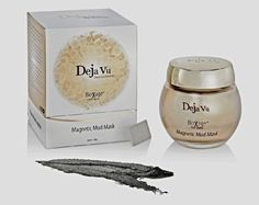 Deja Vu Dead Sea Minerals Bioxage Anti-Aging Magnetic Mud Mask .... $42.99. Evening Primrose and Borage Seed Oils, for Omega-3 and Omega-6 acids.. Use a thin layer with the spatula included avoiding the eye area.  Allow to dry 60 seconds.  Wrap the magnetic wand in tissue and remove mask with upward action.. Vitamin E and Dead Sea Mud extract, as well as almond, jojoba seed oils and Shea butter.. Deja Vu Cosmetics Dead Sea Minerals Magnetic Mud Mask repairs, moisturiz...