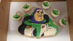 Buzz Lightyear Cake and Alien Cupcakes