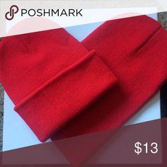 Red heart beanie ❤️ Beanie Accessories Hats