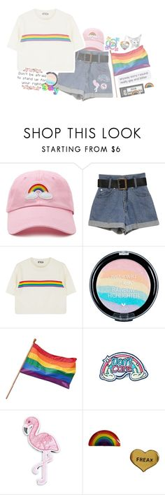 """""""girls like girls"""" by crybabycostello ❤ liked on Polyvore featuring Forever 21, Eye Candy, R.J. Graziano, Me & Zena, proud, gay, pride and lgbt"""