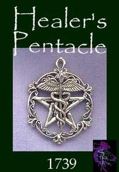 Sterling Silver Victorian Healer's Pentacle Pendant