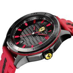 Scuderia XX Ferrari Carbon Fibre Watch Red NEW #ferrari #ferraristore #scuderiaferrari #xxcollection #xx #watch #carbon #fibre #red #rossoferrari #stylish #details #shield #logo #cavallinorampante #quartz #prancinghorse #adventure