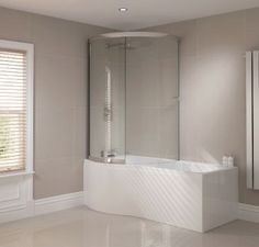 April P Shape Shower Bath with Optional Front Panel and Enclosed Bath Screen 1700 x - Fast Delivery, Will Not Be Beaten on Price. Call Bella Bathrooms on 0191 303 7771 Bathroom Shower Panels, Shower Screen, Stone Bathroom, Master Bathroom, Family Bathroom, Bathroom Faucets, P Shaped Bath, Slide Screen, Shower Pics