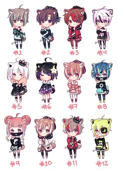 Cute Anime Chibi, Kawaii Chibi, Kawaii Anime, Cute Animal Drawings, Kawaii Drawings, Cute Drawings, Pretty Art, Cute Art, Anime Boy Hair