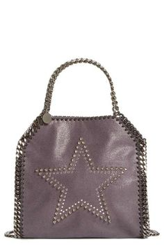 6c60f376be Stella McCartney  Mini Falabella  Studded Faux Leather Star Tote (Nordstrom  Exclusive) Purple