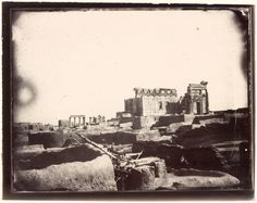 View of the Temple of Bel from the northwest corner of the courtyard, Palmyra, Syria, Louis Vignes, 1864