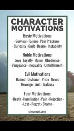 Character motivations  What are your character's motivations?  #writer #writing