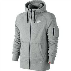 Mens Hoodies Sweatshirts - Rebel Sport - Nike Mens Athletics West 77 Full Zip Hoody