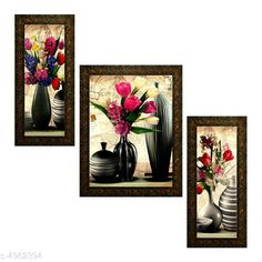 Paintings & Posters Alluring Decorative Wall Paintings Material: Synthetic Size: (L X W) Images 1 - 5.2 in X 12.5 in Image 2 - 9.5 in X 12.5 in image 3 - 5.2 in X 12.5 in Description: It Has 3 Pieces Of Wall Paintings Work: Printed Country of Origin: India Sizes Available: Free Size   Catalog Rating: ★4 (431)  Catalog Name: Alluring Decorative Wall Paintings CatalogID_727109 C127-SC1611 Code: 503-4962394-336