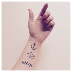 Maritime temporäre Tattoos, Anker, Segelboot, Hipster Tattoos / temporary tattoos, maritime, anchor tattoo, ink made by FONRY via DaWanda.com