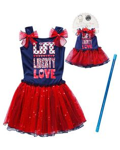 Sweet Heart Rose for Dollie & Me 'Life Liberty Love' Red & Navy Dress 4th Of July Dresses, Navy Dress, Love S, Red White Blue, Liberty, Doll Clothes, Harajuku, Kids Fashion, Girls Dresses
