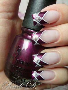 Насыщенный фиолетовый маникюр - Дизайн ногтей