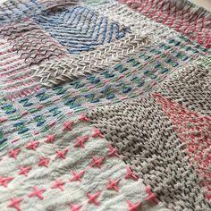 Emma Ihl @stygnen: kantha embroidery