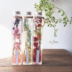 いいね!146件、コメント1件 ― iri flores(イリフローレス)さん(@iriflores.botanica)のInstagramアカウント: 「Happy wedding!! ・ ・ #ウェルカムスペース 用の ハーバリウムのオーダーをいただきました。 3本並べると華やかさup(//∇//) ・…」