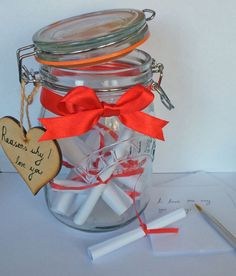 Reasons why I love you Jars by MoonlightMemorie on Etsy
