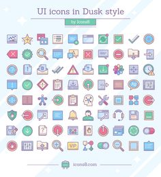 Dusk UI Icons #download #free #freebies #webresource #icons #eps #pdf #png #svg #dusk #like #share