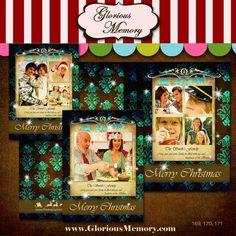 Christmas Card Templates - Holiday Photo Card Photoshop PSD Templates For Photographers - Magical Christmas Pack - PK-046 - 5X7. $9.00, via Etsy.
