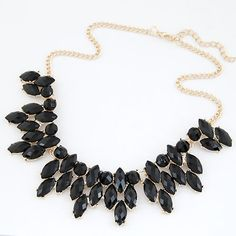 New Brand Bohemia Statement Choker Vintage Charms Gem Collar Rhinestone Necklaces&Pendants Women Jewelry A078
