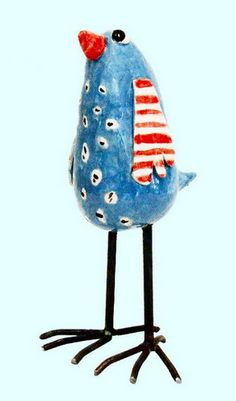 Edith Léon: oiseau en ceramique cermic bird keramieken vogel