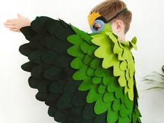 Green Parrot Costume Parakeet Halloween Bird by BHBKidstyle