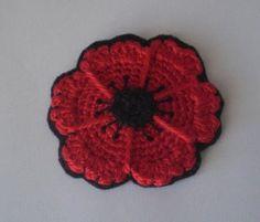 Crochet Cute: Free Pattern - Crocheted Poppy Flower Coasters