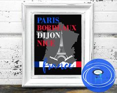Printable Art  France  8X10  Instant Download  by stagedpresents - $5.00 - www.stagedpresents.etsy.com