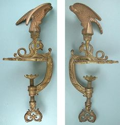 Gilded Eagle Netting Clamp - 19th Century
