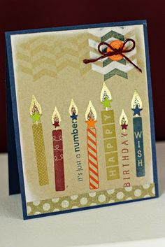 Birthday Candles Card by Erin Lincoln for Papertrey Ink (January 2014)
