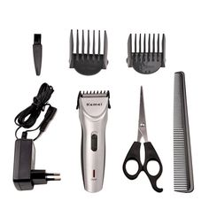 Professional Universal Hair Clipper Rechargeable Hair Trimmer Scissor Kit 8 in 1 #Ckeyin