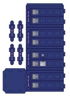 Police box paper model - page1 by ~gfoyle on deviantART