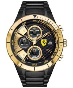 Scuderia Ferrari Men's Chronograph RedRev Evo Black Ion-Plated Stainless Steel Bracelet Watch 46mm… - https://www.luxury.guugles.com/scuderia-ferrari-mens-chronograph-redrev-evo-black-ion-plated-stainless-steel-bracelet-watch-46mm/