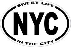 OBXstore.com - New York City Sweet Life In The City Decal, $2.99 (http://www.obxstore.com/all-gifts-souvenirs/new-york-city-sweet-life-in-the-city-decal/)