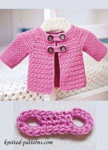 Free Crochet Baby Jacket Cardigan Pattern, #haken, gratis patroon (Engels), baby, jasje, vest, #haakpatroon