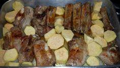 Entrecosto no forno com Batata doce